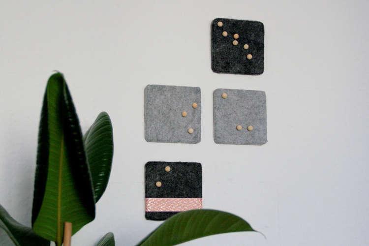 Pinnwand aus Kork und Filz